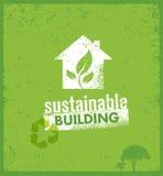 Eco πράσινη βιώσιμη έννοια εμβλημάτων διαβίωσης δημιουργική οργανική διανυσματική στο τραχύ υπόβαθρο Στοκ εικόνες με δικαίωμα ελεύθερης χρήσης