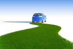eco автомобиля иллюстрация вектора