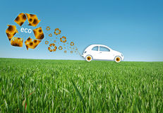 eco автомобиля Стоковое фото RF