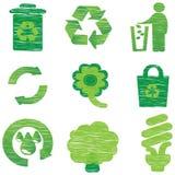 Eco & иконы Recycle Стоковая Фотография RF
