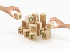 Eco & идет зеленая концепция на изолированный Стоковая Фотография RF