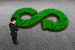 ECO и круговая концепция экономики стоковые фотографии rf