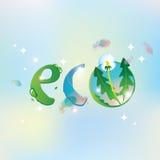 Eco небо и одуванчик Стоковые Фотографии RF