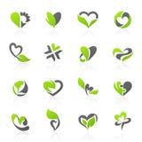 Eco-опирающийся на определённую тему комплект шаблона логоса вектора Стоковая Фотография RF