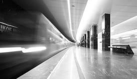 Eco поезда на станции метро Pyatnitskaya Стоковое Фото