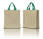 Eco织品袋子 免版税库存照片