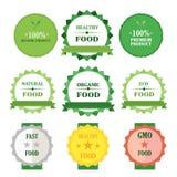Eco绿色徽章例证集合 库存例证
