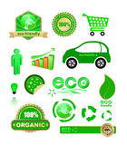 Eco. Vector eco design elements set Royalty Free Stock Image