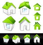 πράσινα σπίτια eco Στοκ φωτογραφία με δικαίωμα ελεύθερης χρήσης