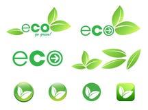 eco图标叶子 库存照片