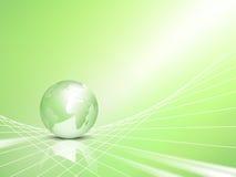 глобус eco принципиальной схемы дела предпосылки Стоковое Изображение