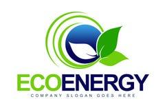 Eco徽标叶子 库存图片