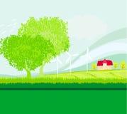 种田风景的Eco 免版税库存照片