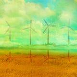 Eco种田-风景 库存照片