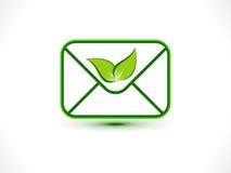 Абстрактный значок почты eco Стоковые Фото