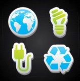 Ενεργειακά εικονίδια Eco Στοκ Εικόνες