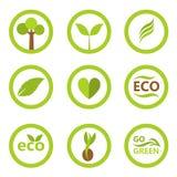 Eco标志和象 免版税库存照片