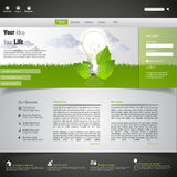 eco绿色模板网站 免版税库存照片