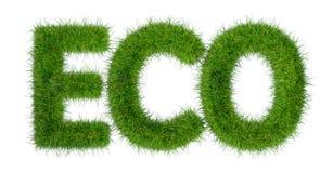 Eco词 免版税库存照片