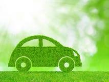 ηλεκτρικό πράσινο υβρίδιο eco έννοιας αυτοκινήτων Στοκ Φωτογραφία