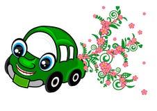 гибрид eco принципиальной схемы автомобиля электрический зеленый Стоковая Фотография
