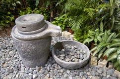Eco绿色室禅宗庭院 免版税库存照片