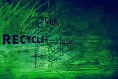 难看的东西肮脏的概念性eco绿色标记背景 免版税库存照片