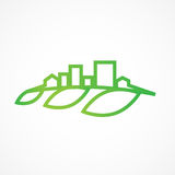 Eco市 免版税库存图片