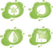 Eco. Four green eco icons, vector illustration Stock Image