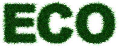 Eco. Grass letters forming the word Eco royalty free illustration