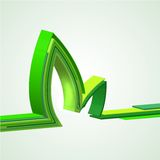 Eco abstract background. Vector illustration Royalty Free Stock Photography