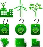 Eco abstrakcjonistyczni elementy Obraz Stock