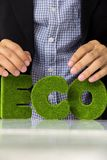 Eco alphabet concept Stock Photo