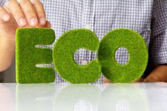 Eco alphabet concept Royalty Free Stock Photography