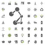 Eco and Alternative Energy vector icon set. Energy source electricity power resource set vector. Eco and Alternative Energy vector icon set. Energy source Stock Image