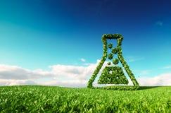 Eco amigável, bio, nenhum desperdício, poluição zero, inseticida livra o agri ilustração royalty free