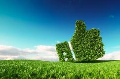 Eco amistoso, ninguna basura, contaminación cero, agreemen del control del clima libre illustration