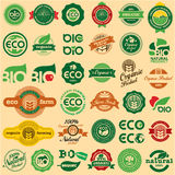 ECO & BIO sinal Fotografia de Stock