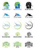 Eco area logos Stock Images