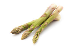 Eco asparagus on white background Fresh vegetables. Stock Photography
