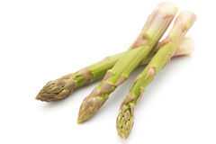 Eco asparagus on white background Fresh vegetables. Royalty Free Stock Images