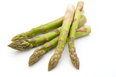 Eco asparagus on white background. Fresh vegetables. Royalty Free Stock Photography