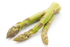 Eco asparagus on white background. Fresh vegetables. Royalty Free Stock Images