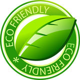 Eco Aufkleber Stockbild