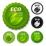 Eco Aufkleber Stockfotografie
