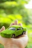 Eco Auto-Ikonenkonzept Lizenzfreies Stockbild