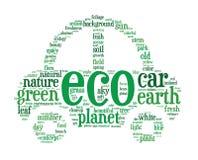 Eco Autokonzept-Wortwolken vektor abbildung