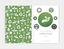 Eco Background, Brochre. Cover design for Brochure leaflet flyer, annual report. Abstract background with. Blurred background. Stock Photo