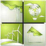 Eco background -go green Royalty Free Stock Photo