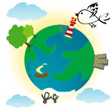 Eco background with planet Earth Stock Photography